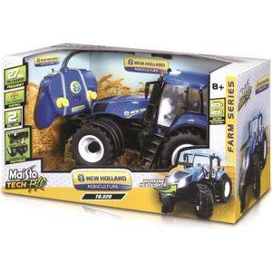 MAISTO TECH Véhicule radiocommandé Tracteur New Holland - Échelle 1/6?me - Piles non incluses