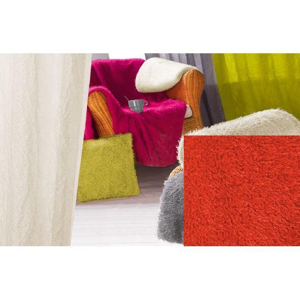 plaid imitation fourrure flashy 130x160 rouge achat vente couverture plaid cdiscount. Black Bedroom Furniture Sets. Home Design Ideas