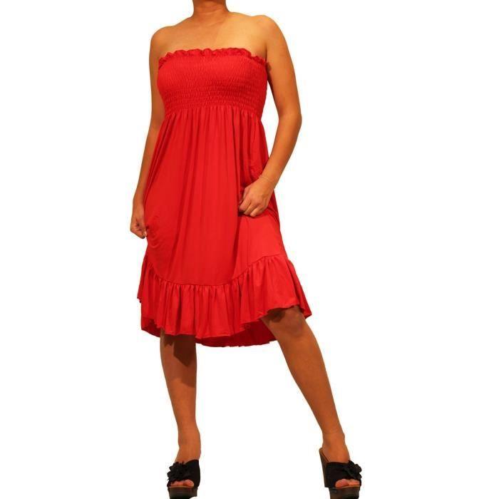 robe bustier deux en un vivi rouge rouge achat. Black Bedroom Furniture Sets. Home Design Ideas