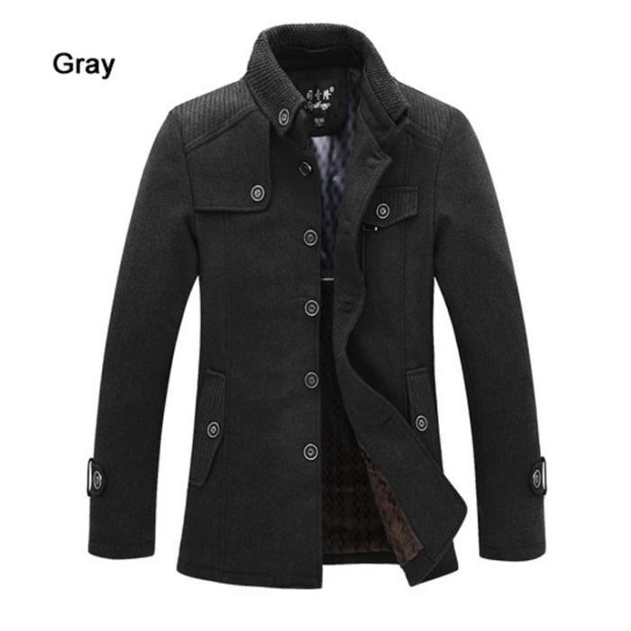 laine veste manteau de paissie hiver homme achat vente manteau caban cdiscount. Black Bedroom Furniture Sets. Home Design Ideas