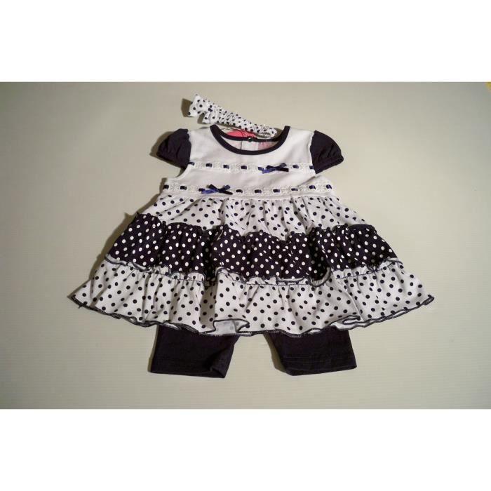 vetement layette bebe fille robe calecon short bleu marine achat vente coffret cadeau. Black Bedroom Furniture Sets. Home Design Ideas