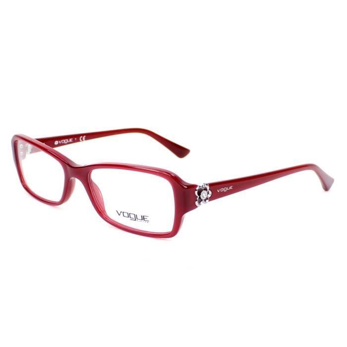 lunettes de vue vogue vo2836b 2139 rouge rouge achat vente lunettes de vue lunettes de vue. Black Bedroom Furniture Sets. Home Design Ideas