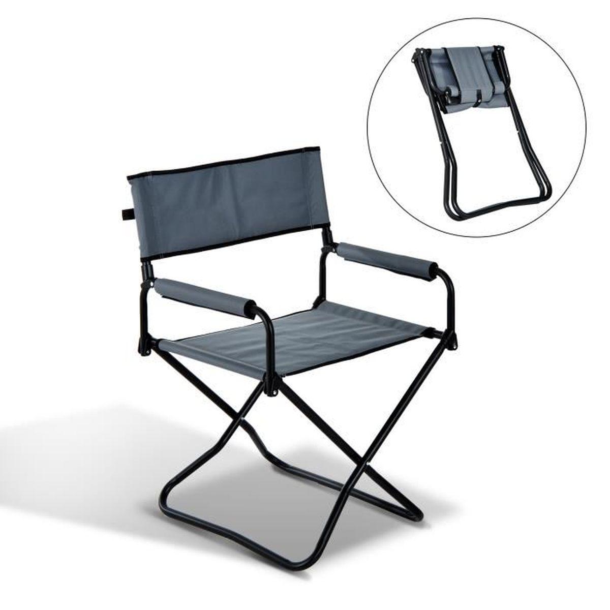 chaise pliante avec accoudoir achat vente pas cher. Black Bedroom Furniture Sets. Home Design Ideas