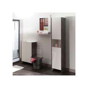 COLONNE - ARMOIRE SDB Colonne salle de bain 2 portes/1 niche - beton/bla