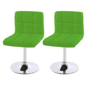CHAISE Lot de 2 chaises de salle à manger Kavala, pivotan