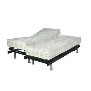 lit electrique 2x80x200 achat vente lit electrique 2x80x200 pas cher cdiscount. Black Bedroom Furniture Sets. Home Design Ideas