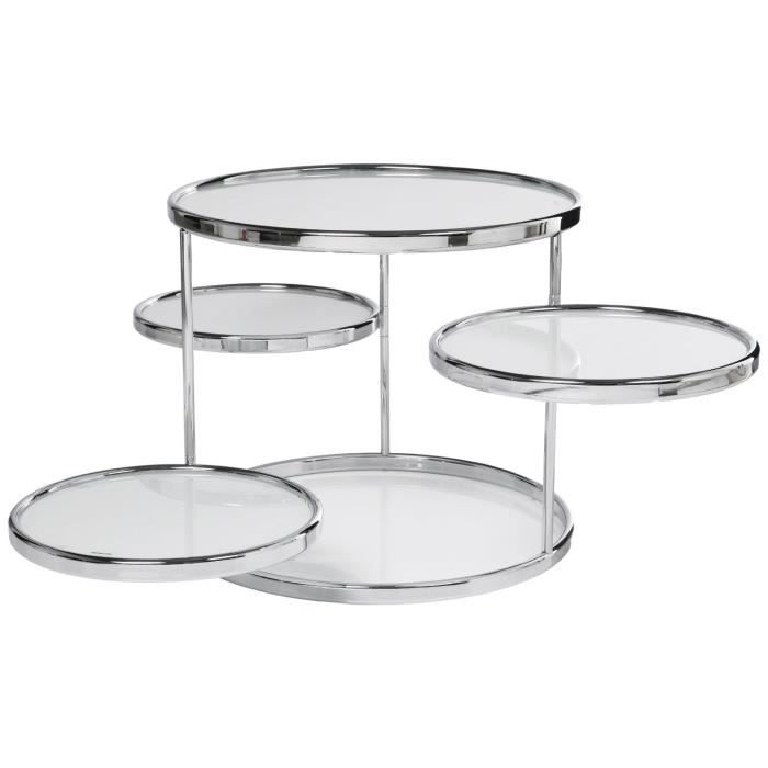 table basse ronde 5 plateaux verre blanc achat vente table basse table basse ronde 5 plateau. Black Bedroom Furniture Sets. Home Design Ideas