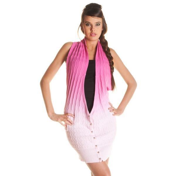 long gilet femme dos nu boutonnee rose achat vente gilet cardigan 2009955870261 cdiscount. Black Bedroom Furniture Sets. Home Design Ideas