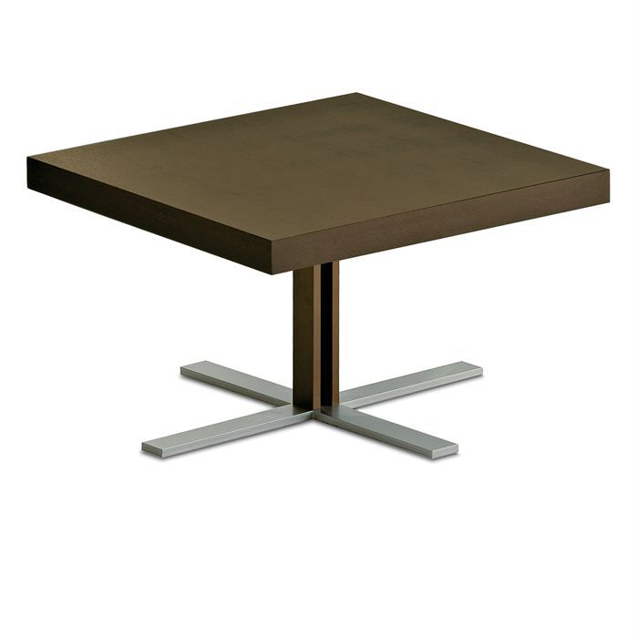 Table basse carr e tosca q en m tal verni achat vente for Table basse carree metal