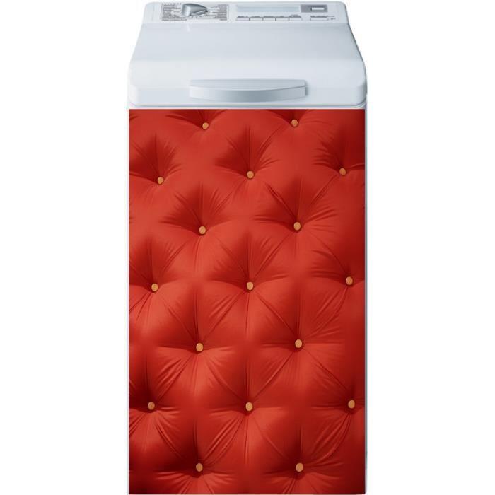 sticker lave linge capitonn rouge dimensions achat. Black Bedroom Furniture Sets. Home Design Ideas