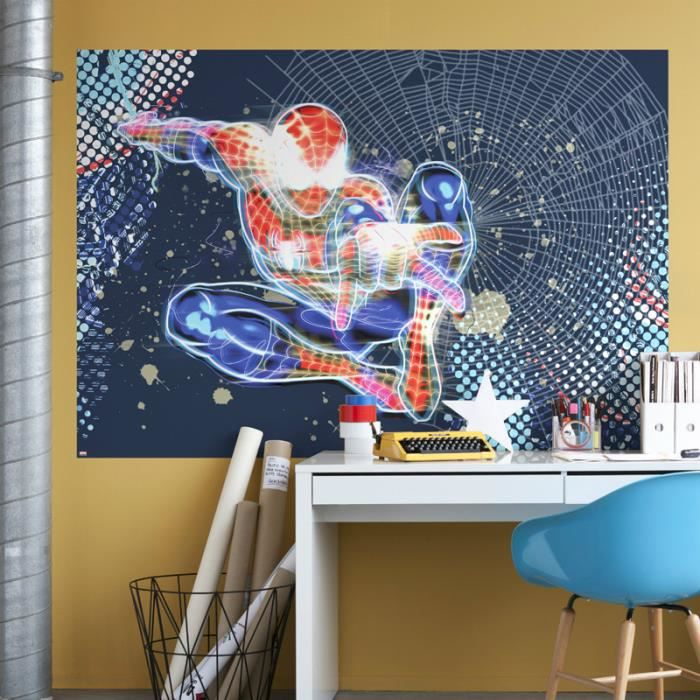Poster g ant spiderman neon achat vente affiche for Decoration murale neon