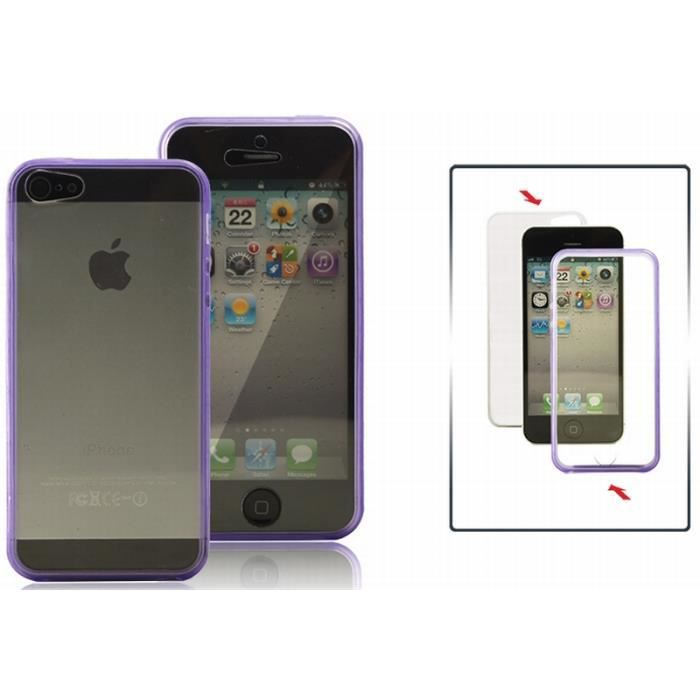 coque int grale violette pour iphone se achat coque bumper pas cher avis et meilleur prix. Black Bedroom Furniture Sets. Home Design Ideas