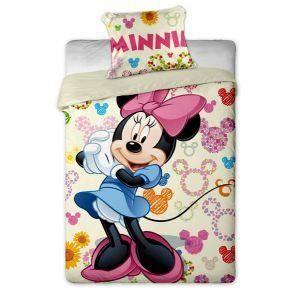 parure de lit minnie mouse colours 140x200 cm achat vente parure de drap cdiscount. Black Bedroom Furniture Sets. Home Design Ideas