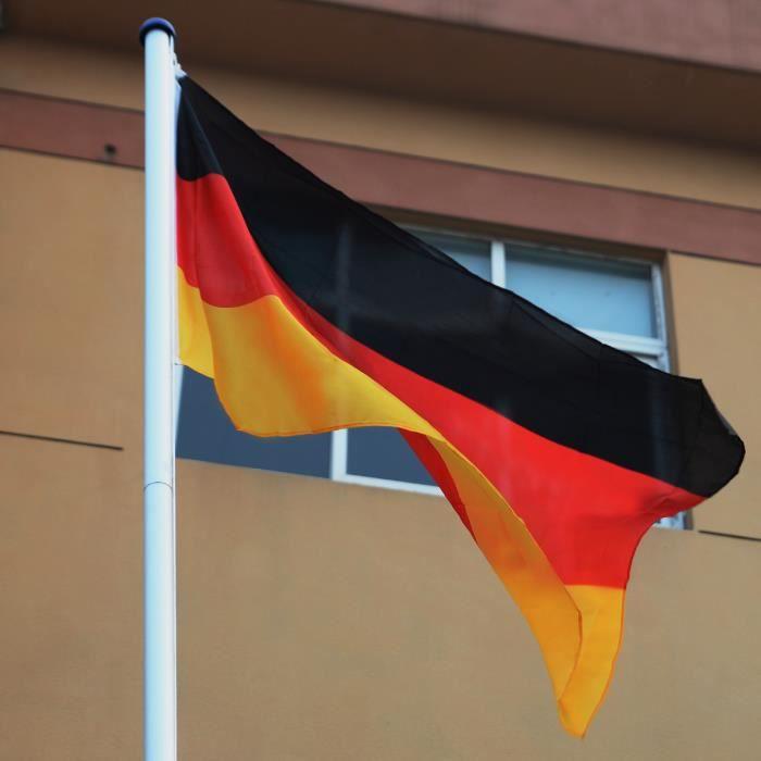 m t de drapeau porte drapeau avec drapeau allemand en aluminium 6 2m achat vente drapeau. Black Bedroom Furniture Sets. Home Design Ideas