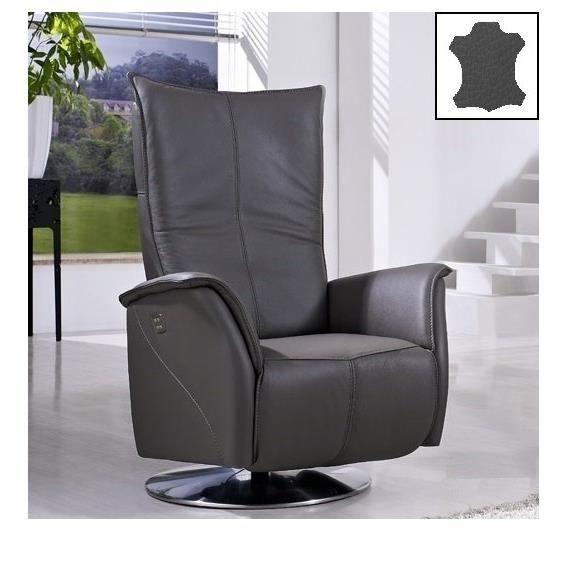 elite fauteuil relax lectrique cuir vachette achat vente fauteuil cuir bois h tre. Black Bedroom Furniture Sets. Home Design Ideas