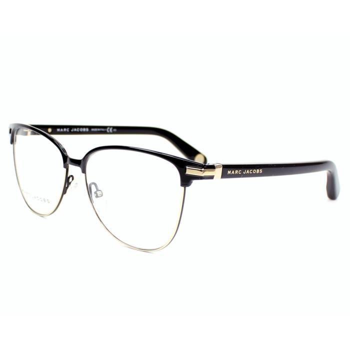 lunettes de vue marc jacobs mj 510 j60 noir or noir or achat vente lunettes de vue. Black Bedroom Furniture Sets. Home Design Ideas