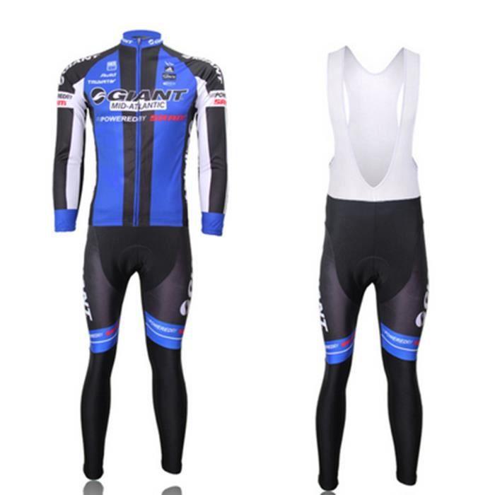 giant maillot de cyclisme manches longues cuissard v lo bretelle prix pas cher soldes. Black Bedroom Furniture Sets. Home Design Ideas