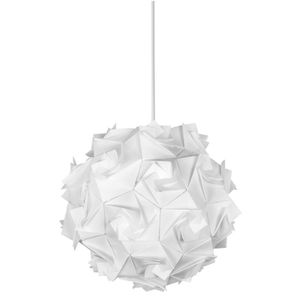 Amelie suspension en plastique coloris blanc achat for Lustre boule blanche