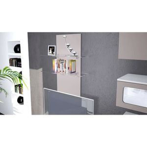 Support mural etagere verre achat vente support mural etagere verre pas c - Etagere pliable mural ...