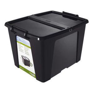 BOITE DE RANGEMENT Boîte de rangement en plastique, noir, 40 l