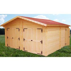 garage double bois achat vente garage double bois pas cher les soldes sur cdiscount. Black Bedroom Furniture Sets. Home Design Ideas