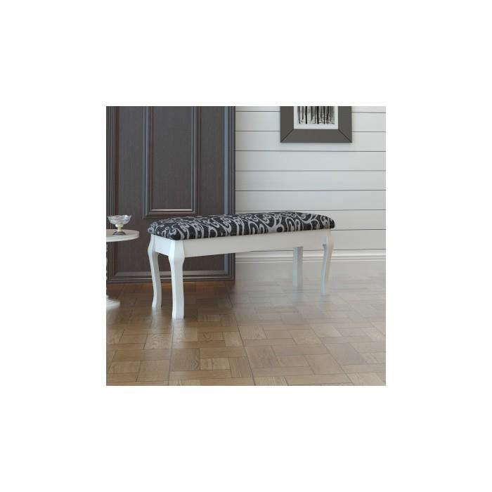 banc rembourr pour coiffeuse 2 places en noir 110 cm achat vente banc noir cdiscount. Black Bedroom Furniture Sets. Home Design Ideas