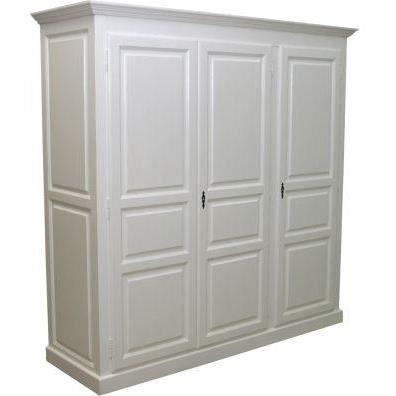Armoire en pin massif 3 portes achat vente armoire de for Achat armoire chambre