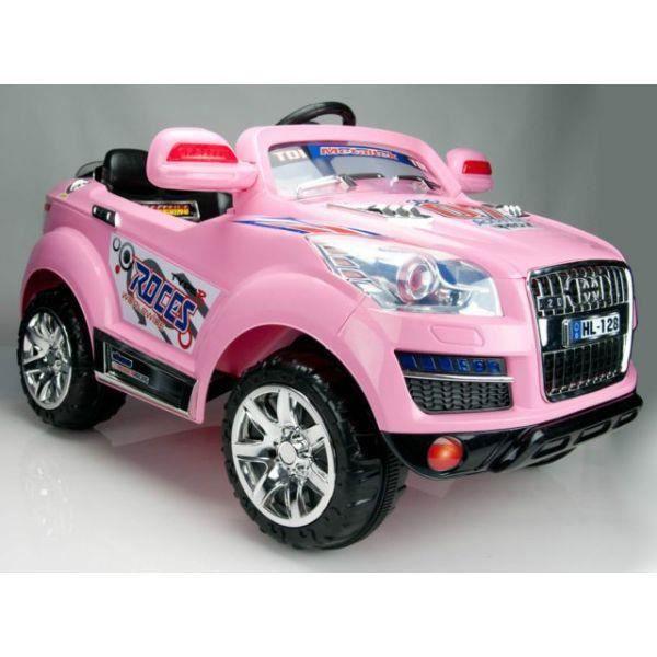suv q8 rose voiture lectrique enfant 2 moteurs achat vente voiture enfant cdiscount. Black Bedroom Furniture Sets. Home Design Ideas