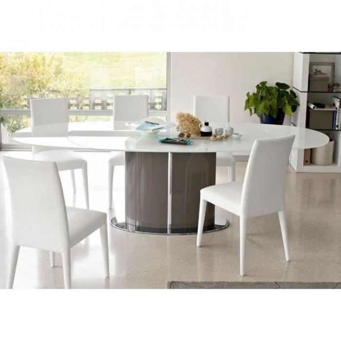 Table repas ovale extensible odyssey 165x105 en achat vente table a ma - Table salle a manger ovale extensible ...