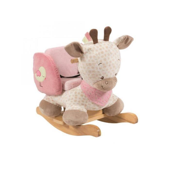 bascule girafe beige charlotte rose achat vente. Black Bedroom Furniture Sets. Home Design Ideas