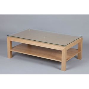 Table Basse Plaquee Chene Achat Vente Table Basse Plaquee Chene Pas Cher Cdiscount