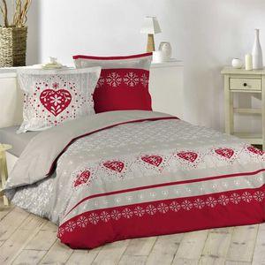 linge de lit chalet achat vente linge de lit chalet pas cher les soldes sur cdiscount. Black Bedroom Furniture Sets. Home Design Ideas