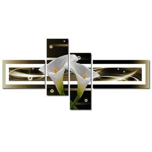 TABLEAU - TOILE ARUM Tableau Multi Panneaux  abstrait 140x70 cm