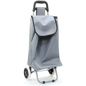 Chariot de course gris