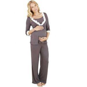 pyjama de grossesse et d allaite achat vente chemise de nuit cdiscount. Black Bedroom Furniture Sets. Home Design Ideas