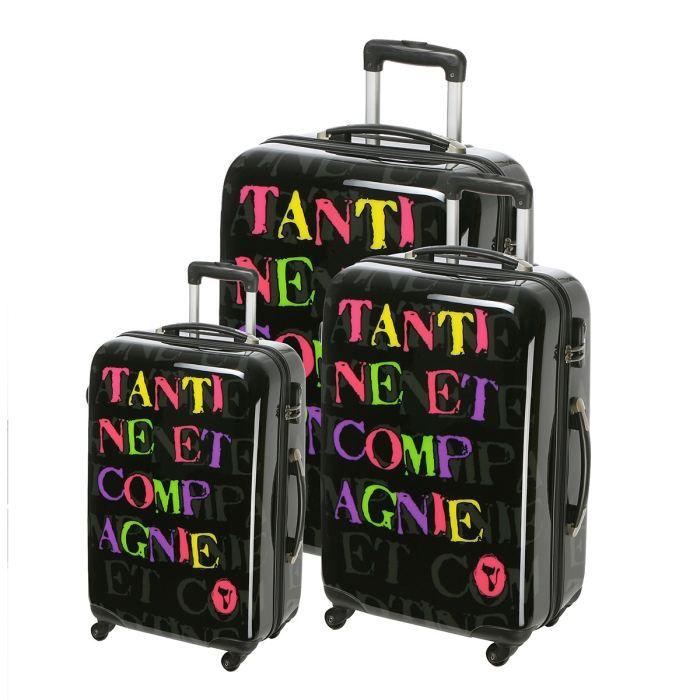 SET DE VALISES TANTINE ET COMPAGNIE 3 valises trolley 4  roues