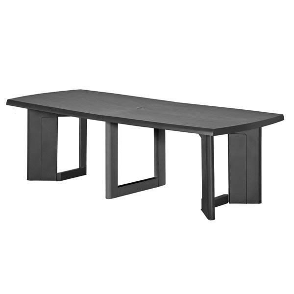 Table new york 260cm coloris graphite allibert achat - Table basse relevable new york ...