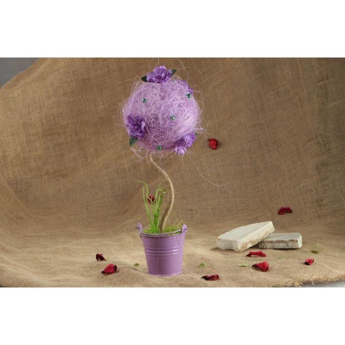 Arbre topiaire fait main mauve achat vente fleur for Objet deco mauve