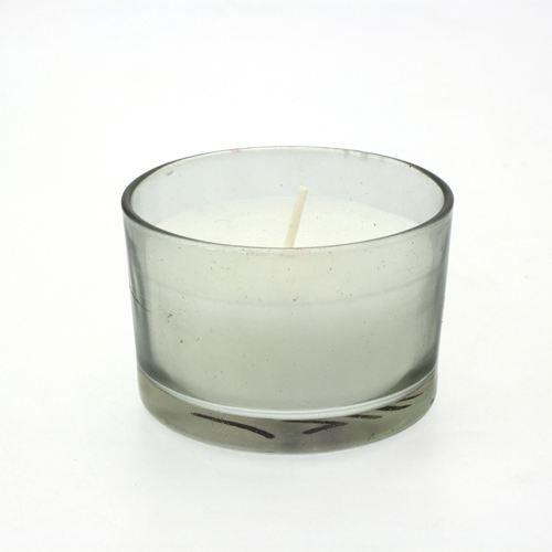 bougie en pot verre rond gris achat vente bougie d corative verre soldes cdiscount. Black Bedroom Furniture Sets. Home Design Ideas