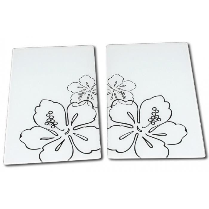 Planche d couper en verre couvre plaques achat for Couvre plaque de cuisson