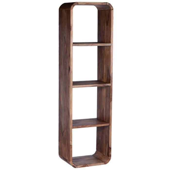Salesfever biblioth que en bois de sheesham 4 niches achat vente biblio - Achat meuble bibliotheque ...