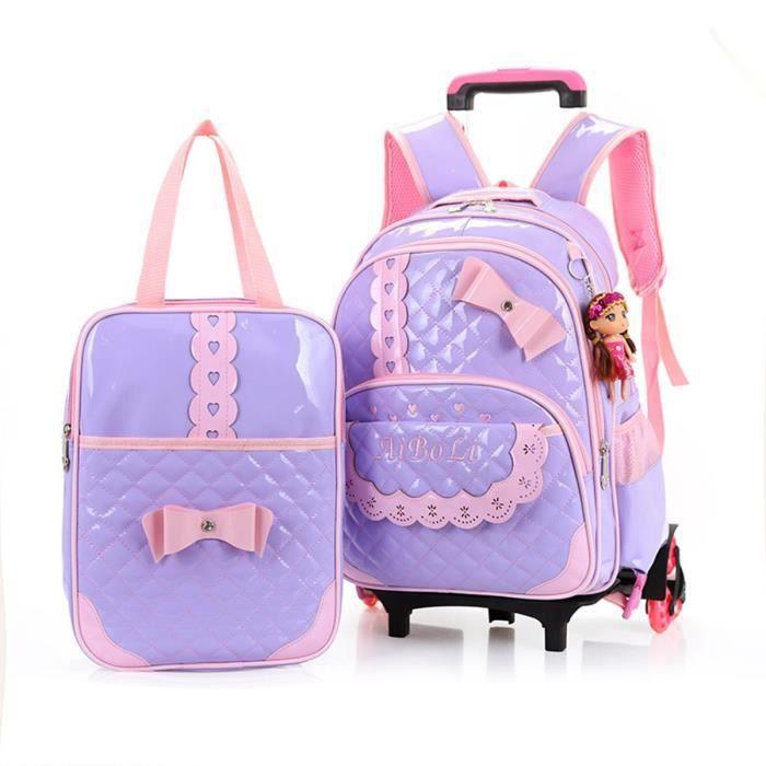 sac scolaire roulettes sac main enfants fille sac d 39 cole pu sac de voyage 2016 image 2. Black Bedroom Furniture Sets. Home Design Ideas