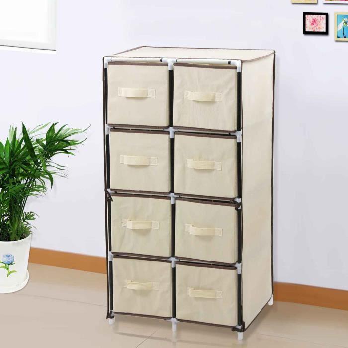 songmics commode multifonctions avec 8 tiroirs en tissu non tiss cadre en acier 105 cm rlg24m. Black Bedroom Furniture Sets. Home Design Ideas