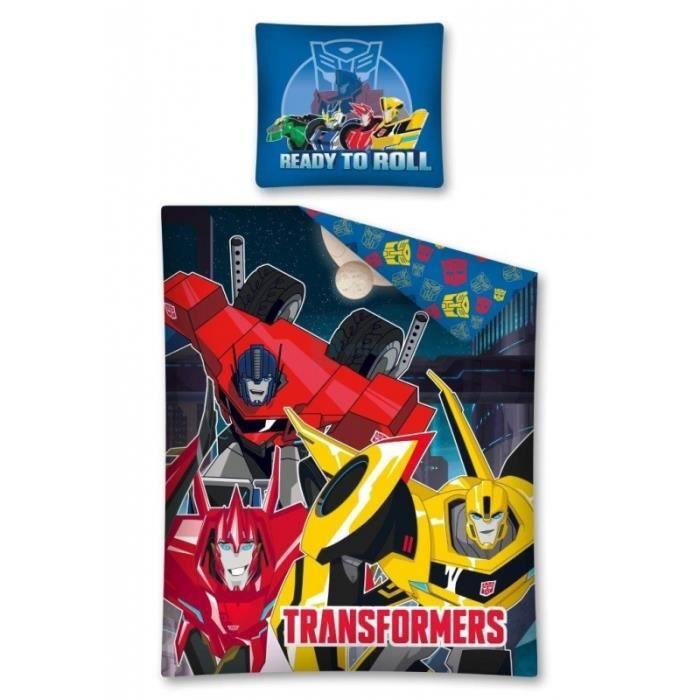 Parure de lit transformers 160 x 200 achat vente parure de drap cdiscount - Parure de lit transformers ...