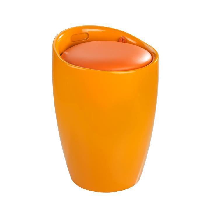 Tabouret de salle de bain candy orange orange achat for Tabouret de salle de bain