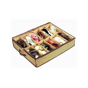 boites rangement sous lit achat vente boites rangement sous lit pas cher cdiscount. Black Bedroom Furniture Sets. Home Design Ideas