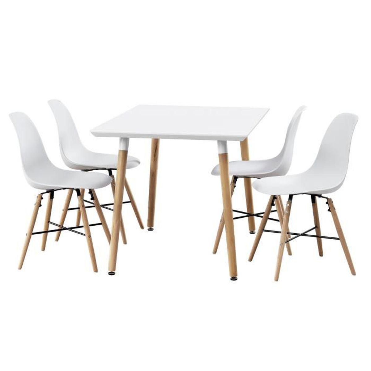 Table de salle manger bambou avec 4 chaises for Table de salle a manger avec chaise