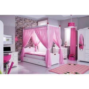 rideaux pour baldaquin achat vente rideaux pour baldaquin pas cher cdiscount. Black Bedroom Furniture Sets. Home Design Ideas