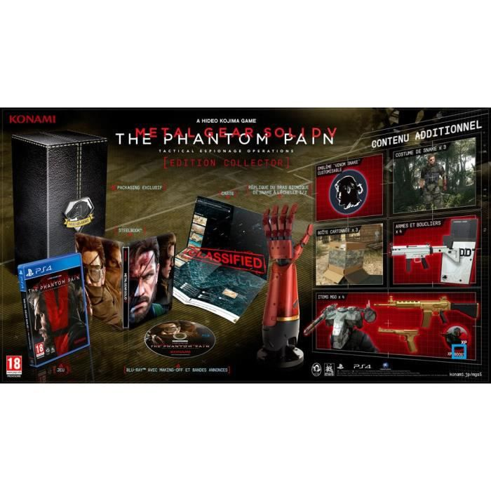 jeux pc video console ps metal gear solid v the phantom pain edition coll f