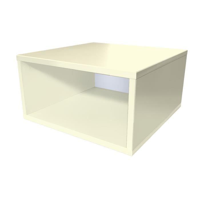 Cube de rangement bois largeur 50 cm achat vente petit for Meuble 50 cm de large